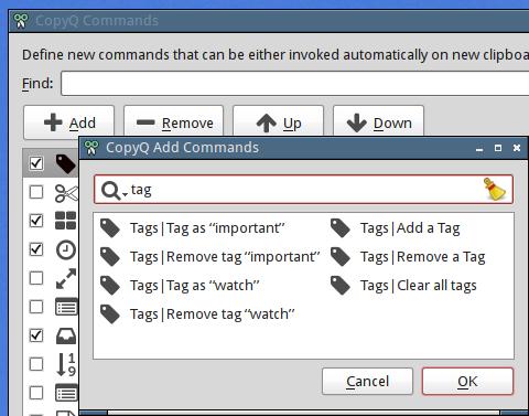 Tags — CopyQ documentation